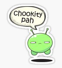 chookity pah Sticker