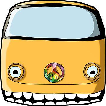 Crazy VW Van by cartoonblog
