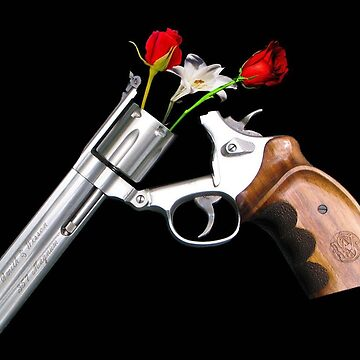 Guns and roses band - Roses in a gun art by marieb73