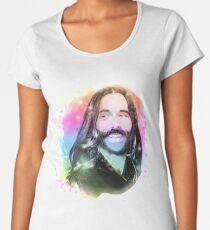 Jonathan Van Ness Regenbogen-Porträt Frauen Premium T-Shirts