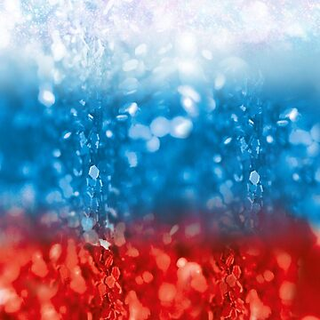 Russia flag banner glitter Russia 04 by Margarita-Art