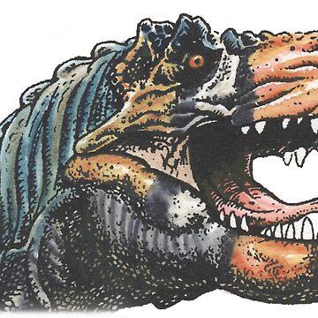 T Rex head by SnakeArtist