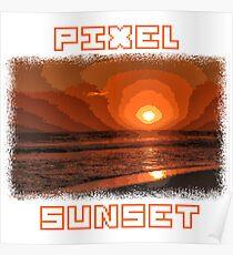 PIXEL SUNSET sunset Poster