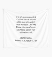 Reason and logic lost to passion Wall Tapestry