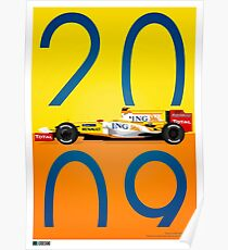 Fernando Alonso 2009 R29 Poster