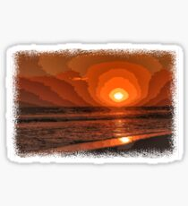 PIXEL SUNSET by the sea Sticker