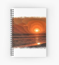 PIXEL SUNSET by the sea Spiral Notebook