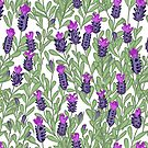 April blooms(Lavender) by Kanika Mathur  Design