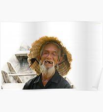 Old Vietnamese Fisherman Poster