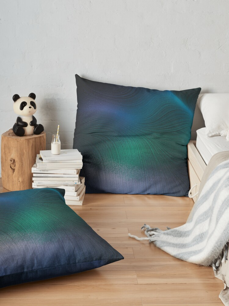Alternate view of Beauty of the Northern Lights Floor Pillow