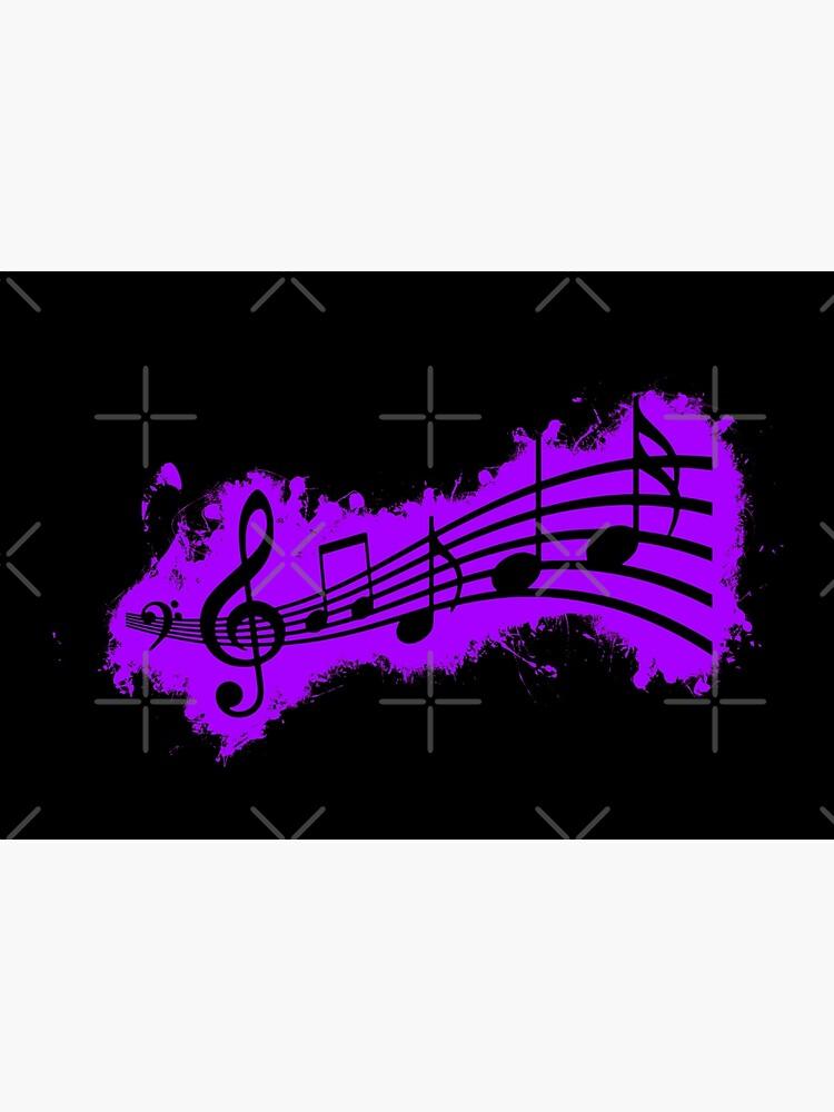 Silhouette musical purple and black silhouette de VincentW91