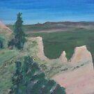 Scotts Bluff Overlook Landscape Scenery by naomilambert