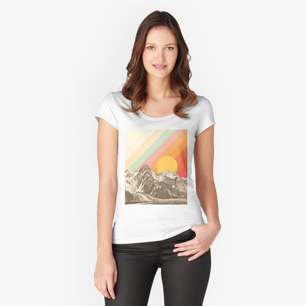 Mountainscape #1 Fitted Scoop T-Shirt