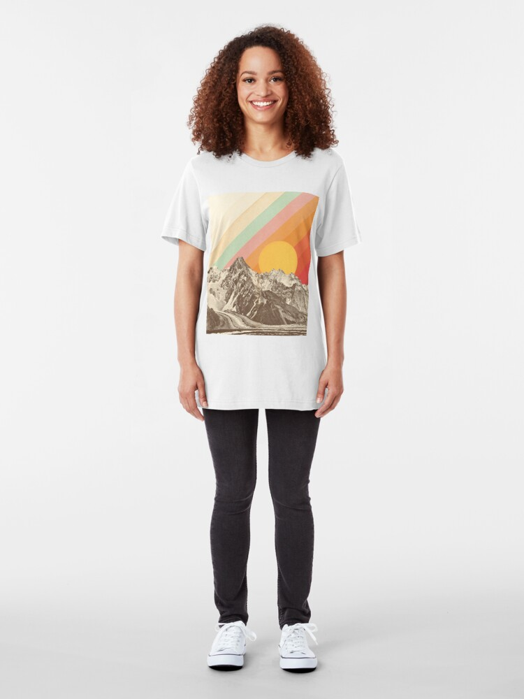 Alternate view of Mountainscape #1 Slim Fit T-Shirt