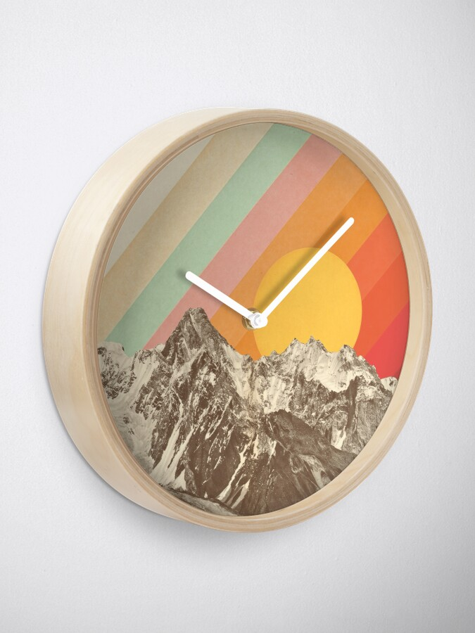 Alternate view of Mountainscape #1 Clock