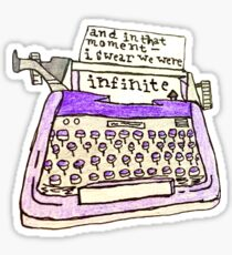 the perks of being a wallflower- typewriter Sticker