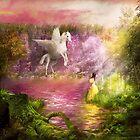 Fantasy - Pegasus - The enchanted garden by Michael Savad