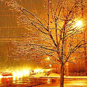 """""""A Snowy Evening in Knoxville"""" (a series, no.3)... prints and products by ArtbyBob"""