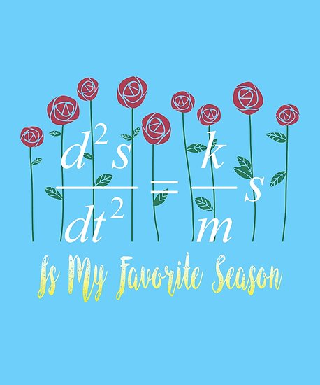 Spring Is My Favorite Season Math Equation Nerd Gifts By NoBonesLife