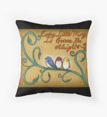 Three Little Birds Throw Pillow