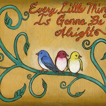 Three Little Birds by RozAbellera