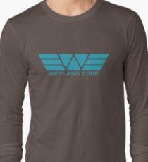Weyland Corp logo - Alien - Blue Long Sleeve T-Shirt