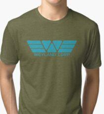 Weyland Corp logo - Alien - Blue Tri-blend T-Shirt