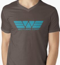 Weyland Corp logo - Alien - Blue Mens V-Neck T-Shirt
