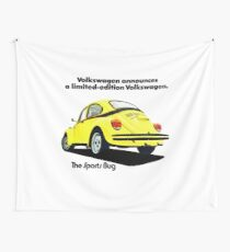 VOLKSWAGEN BEETLE SPORTS BUG Wall Tapestry