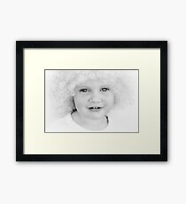 Mila and the Wig Framed Print
