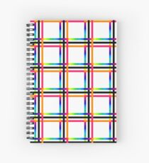 Rainbow Plaid Spiral Notebook