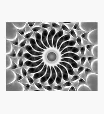 Gray Kaleidoscope Art 29 Photographic Print