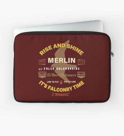 Merlin Falcon Apparel and Gear for Falconers who fly Merlins Laptop Sleeve