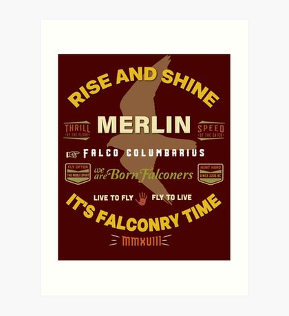 Merlin Falcon Apparel and Gear for Falconers who fly Merlins Art Print