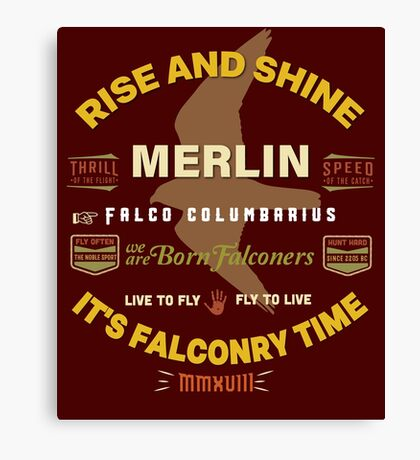 Merlin Falcon Apparel and Gear for Falconers who fly Merlins Canvas Print