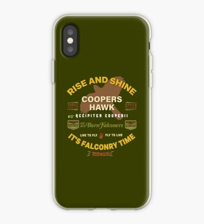 Coopers Hawk Apparel and Gear for Falconers who fly Coopers Hawks iPhone Case