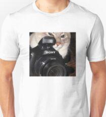 Camera Cat Unisex T-Shirt
