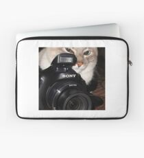 Camera Cat Laptop Sleeve