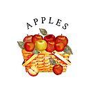 Fall Basket of Apples by Ann Drake