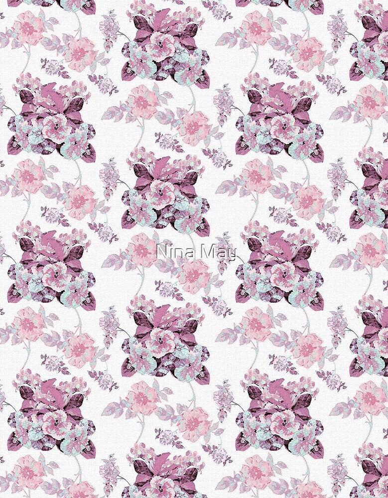 Botanical Toile Pink by Nina May