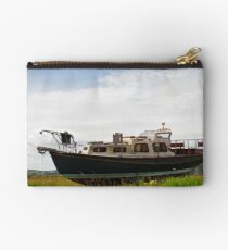 Stranded - an old boat Studio Pouch