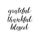 Grateful Thankful Blessed by Ann Drake