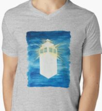 A Day in the Life of a TARDIS Mens V-Neck T-Shirt