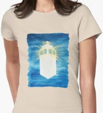 A Day in the Life of a TARDIS Womens Fitted T-Shirt