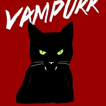 Vampire Cat Halloween | Vampurr Fangs  by Kittyworks