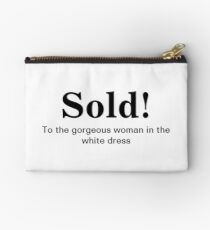 Groom's with a Funny Quote  Sold Studio Pouch