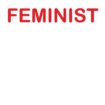 Feminist t-shirt by RithaMatch