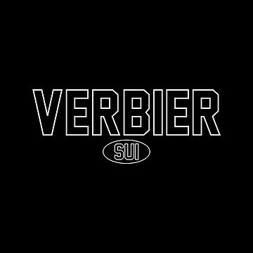 Verbier White Outline Black Background by PEK1787