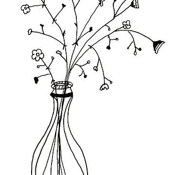 Simple florero de flores de hcross214
