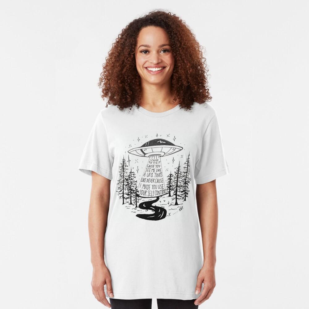 Frank Ocean Self Control hayillustrate Slim Fit T-Shirt